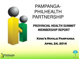 PROVINCIAL HEALTH SUMMIT MEMBERSHIP REPORT