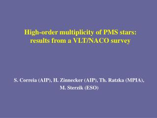 High-order multiplicity of PMS stars:  results from a VLT/NACO survey