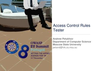 Access Control Rules Tester