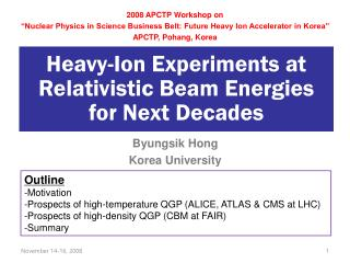 Heavy-Ion Experiments at Relativistic Beam Energies for Next Decades