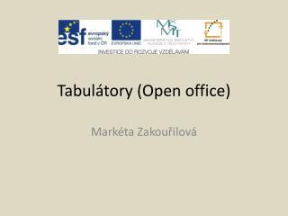 Tabulátory (Open office)