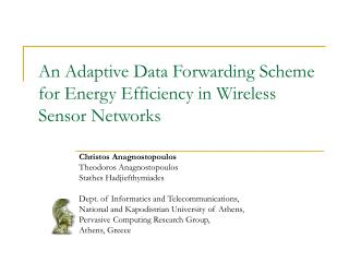 An Adaptive Data Forwarding Scheme for Energy Efficiency in Wireless Sensor Networks