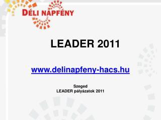 LEADER 2011 delinapfeny-hacs.hu Szeged LEADER pályázatok 2011