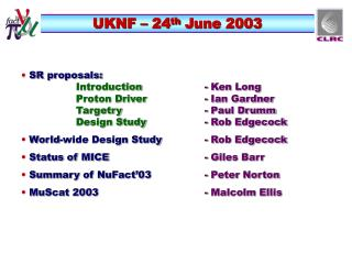 UKNF – 24 th  June 2003