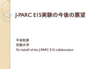 J-PARC E15 実験の今後の展望