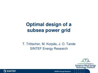 Optimal design of a subsea power grid