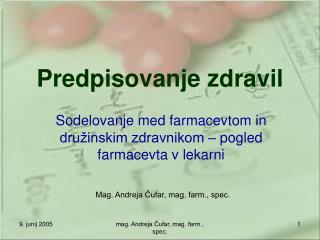 Predpisovanje zdravil