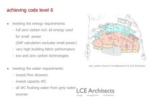 achieving code level 6 ●   meeting the energy requirements