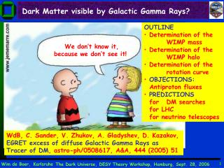 Dark Matter visible by Galactic Gamma Rays?