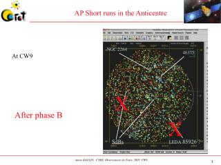 AP Short runs in the Anticentre