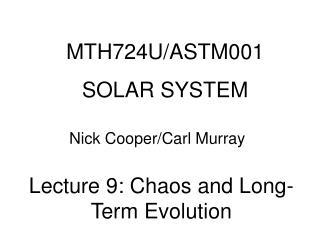 MTH724U/ASTM001 SOLAR SYSTEM