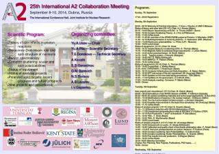 25th International A2 Collaboration Meeting September 8-10, 2014, Dubna, Russia