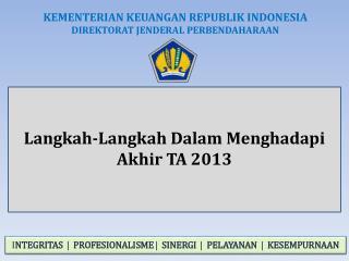 Langkah-Langkah Dalam Menghadapi  Akhir TA 2013