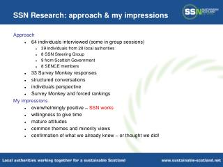SSN Research: approach & my impressions