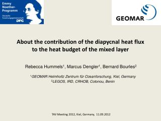 About the contribution of the diapycnal heat flux to the heat budget of the mixed layer