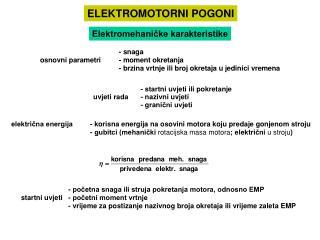 ELEKTROMOTORNI POGONI