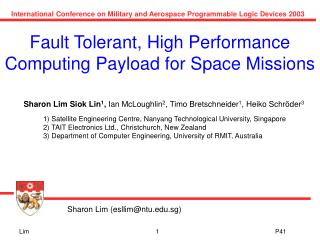 Fault Tolerant, High Performance Computing Payload for Space Missions