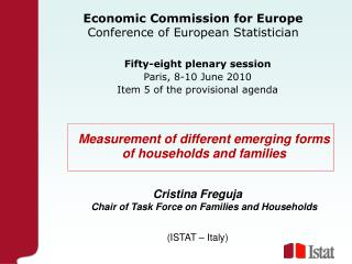 Economic Commission for Europe Conference of European Statistician