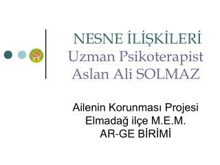 NESNE İLİŞKİLERİ Uzman Psikoterapist Aslan Ali SOLMAZ