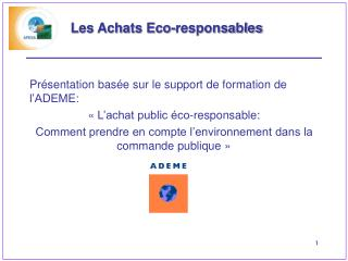 Les Achats Eco-responsables