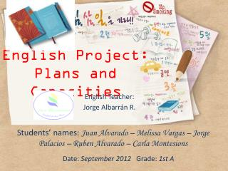 English Project:  Plans and Capacities