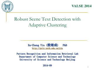 Robust Scene Text Detection with Adaptive Clustering
