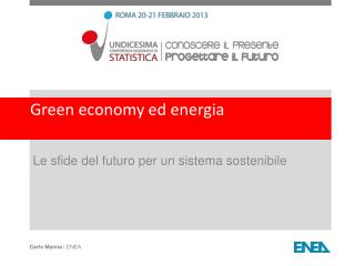 Green economy ed energia