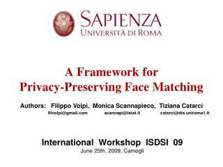 International  Workshop  ISDSI  09 June 25th, 2009, Camogli