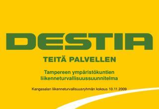 Tampereen ympäristökuntien liikenneturvallisuussuunnitelma