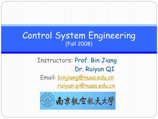 Control System Engineering (Fall 2008)