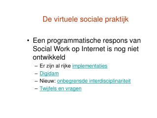 De virtuele sociale praktijk