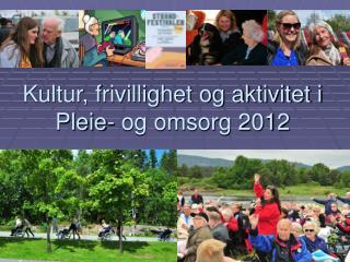 Kultur, frivillighet og aktivitet i  Pleie- og omsorg 2012