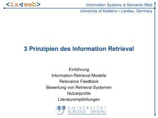 3 Prinzipien des Information Retrieval