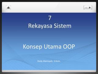 7 Rekayasa Sistem