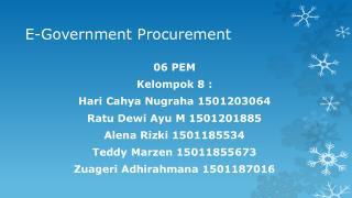 E-Government Procurement