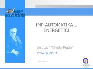 """Institut """"Miha j lo Pupin"""""""