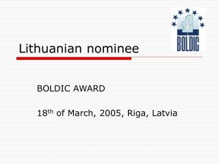 Lithuanian nominee