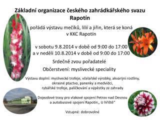 Základní organizace českého zahrádkářského svazu Rapotín