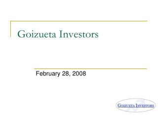 Goizueta Investors
