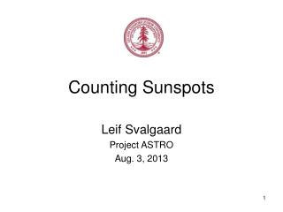 Counting Sunspots
