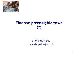 Finanse przedsiębiorstwa (7)