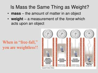 Is Mass the Same Thing as Weight?