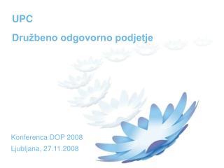UPC Družbeno odgovorno podjetje