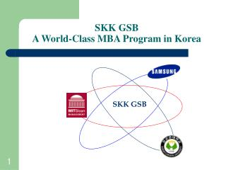 SKK GSB A World-Class MBA Program in Korea