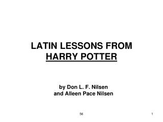 LATIN LESSONS FROM HARRY POTTER