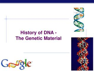 History of DNA - The Genetic Material