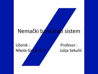 Nemački bankarski sistem