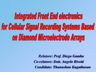 Integrated Front End electronics for Cellular Signal Recording Systems Based