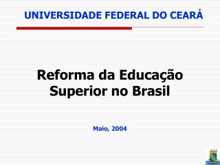 UNIVERSIDADE FEDERAL DO CEAR