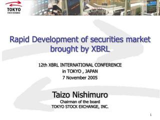Rapid Development of securities market brought by XBRL